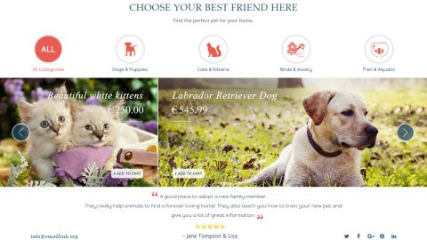 BoostSales webstore design pet template