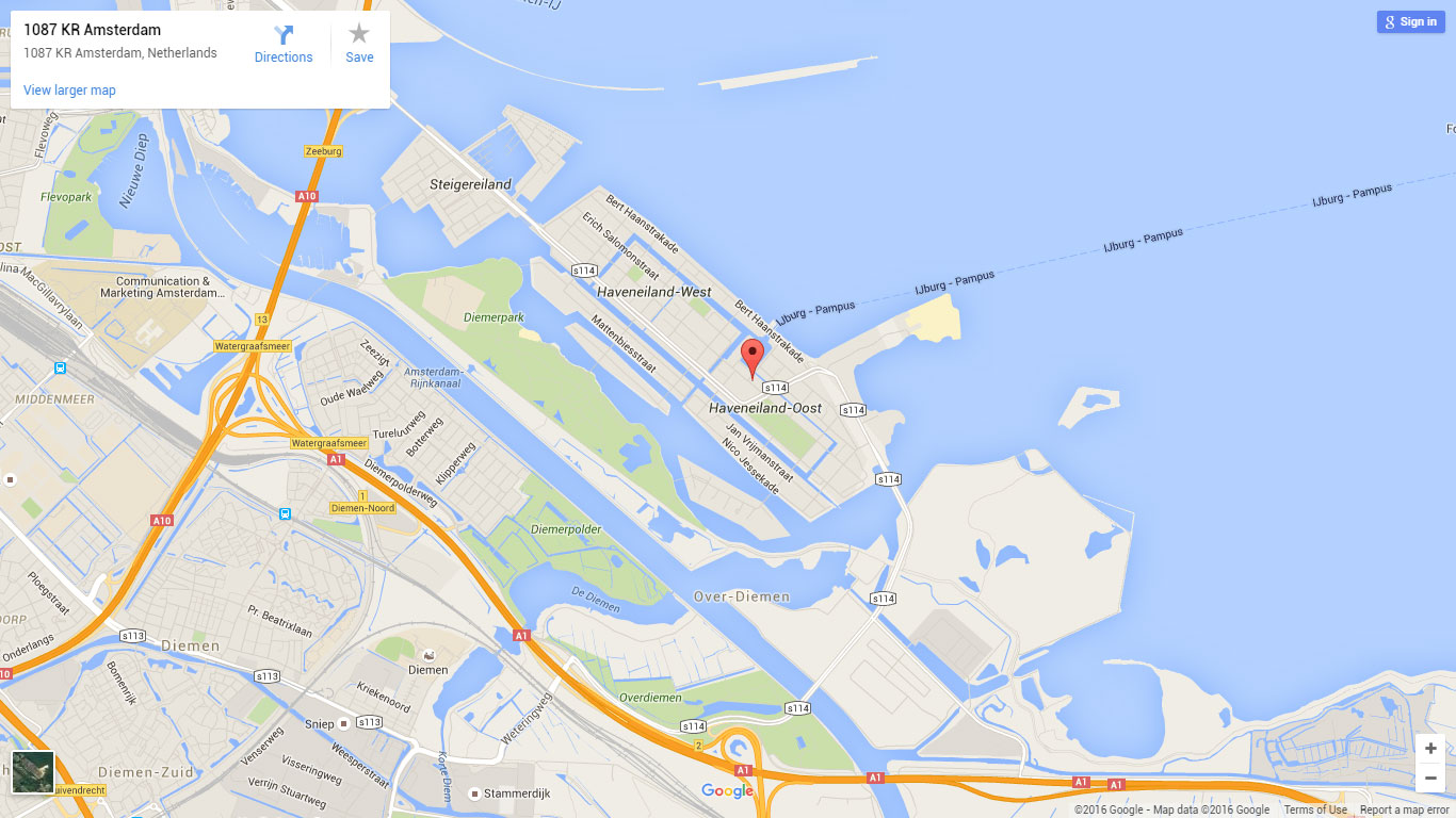 BoostSales contact us Amsterdam map